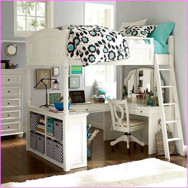Ikea loft beds full size girls room pinterest ikea Bunk room designs