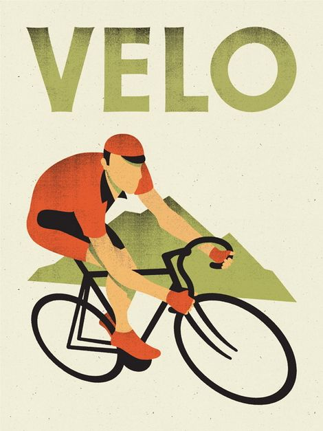 Art deco cycling poster - I love all things design & bike