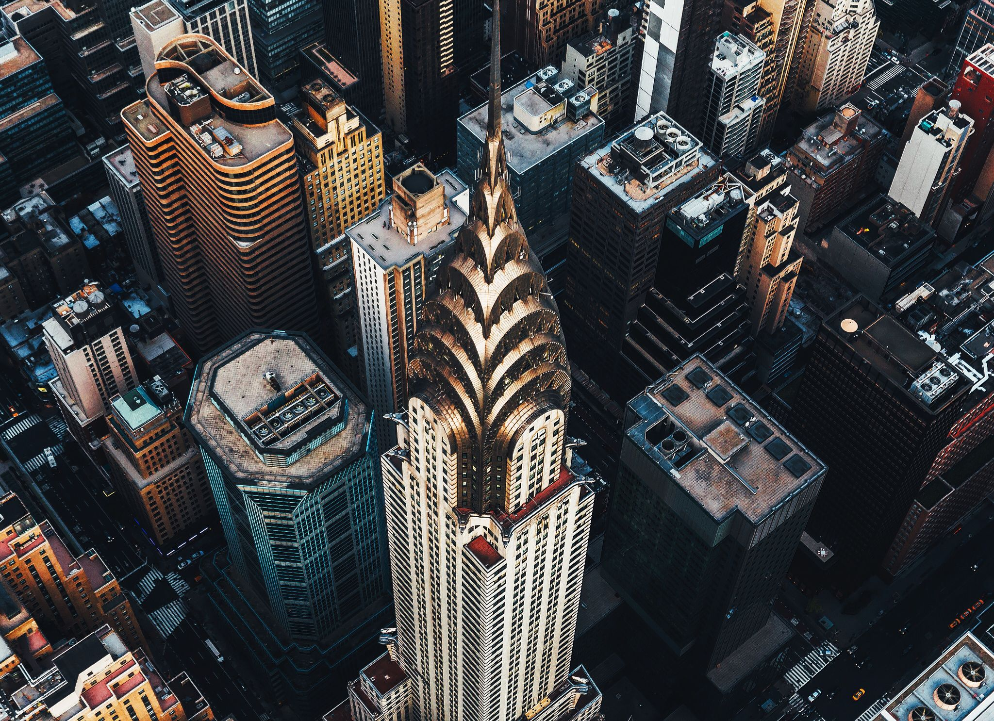 Chrysler Building From The Sky With Images Chrysler Building