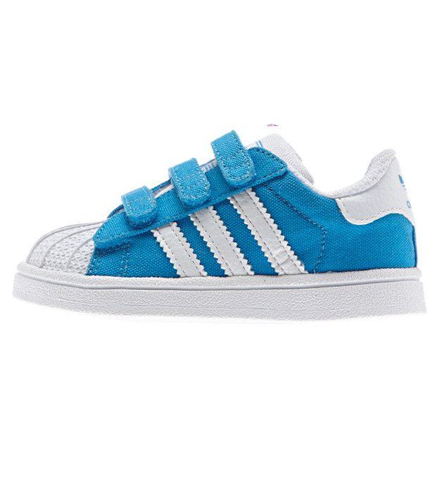 adidas Mens Shoes Kids Adidas Superstar CF Sneaker Blue
