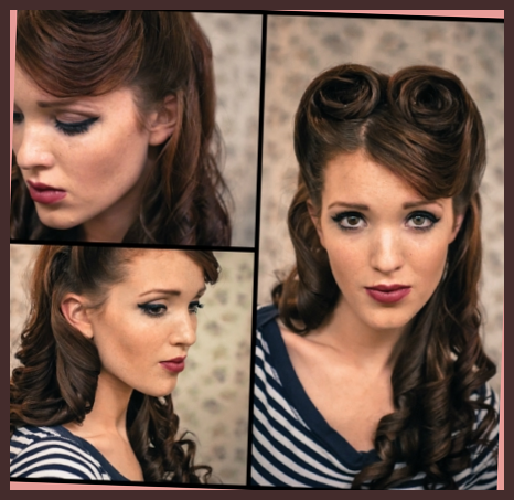 14 Glamorous Retro Hairstyle Tutorials Pretty Designs With 50s Hairstyles For Long Hair Tutorial 50s 50s Hairstyles Easy 50s Hairstyles Hair Styles