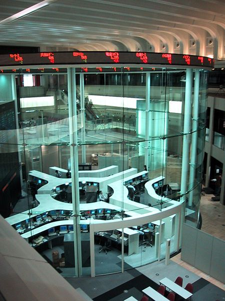 Enclosed Glass Cylinder Trading Room At Tokyo Stock Exchange Tokyo Stock Exchange Stock Exchange Tokyo
