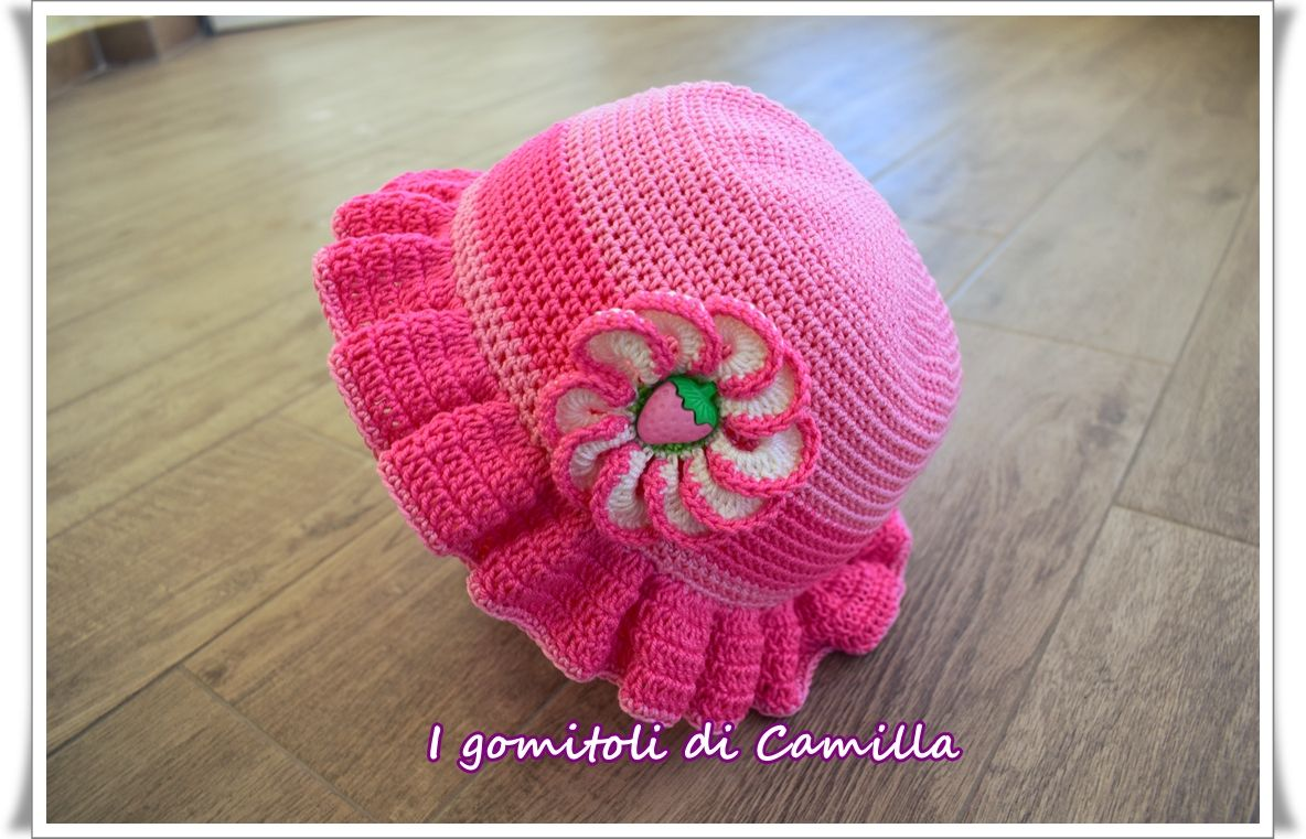 Cappellino Estivo Bimba Uncinetto X Bambini Crochet Hats Baby