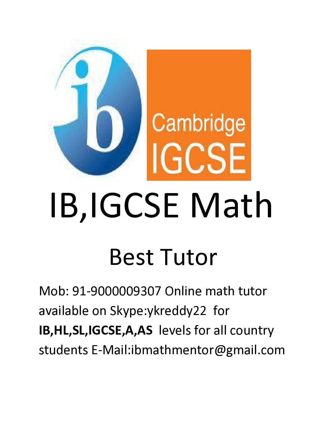 Do you want Math Online Tutor for IGCSE( A,AS and O levels) Edexcel ...
