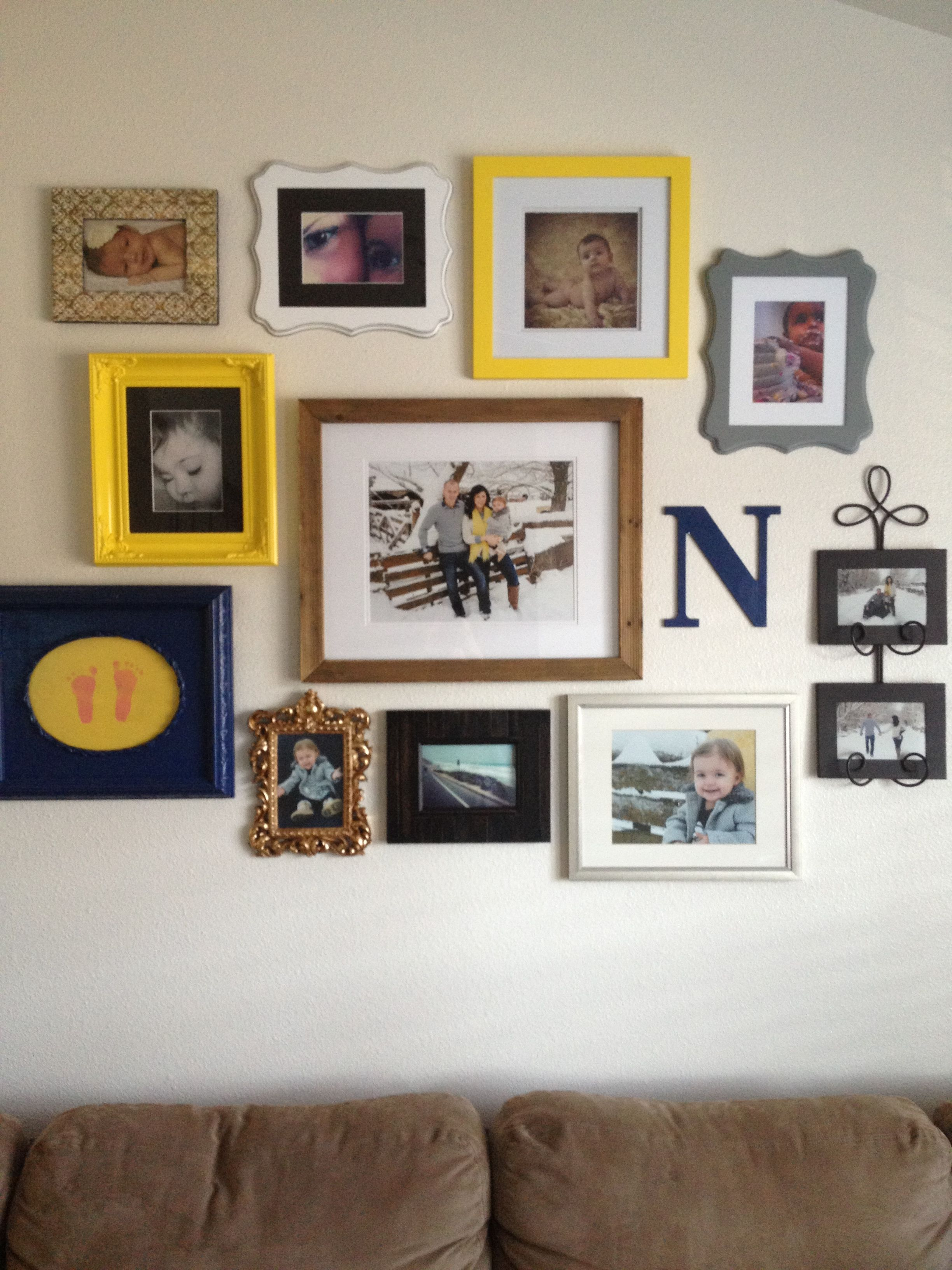 I Like The Use Of The Different Types Of Frames House Photo Wall