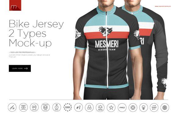 Bike Jersey Longsleeve Mock Up Bike Jersey Jersey Mockup