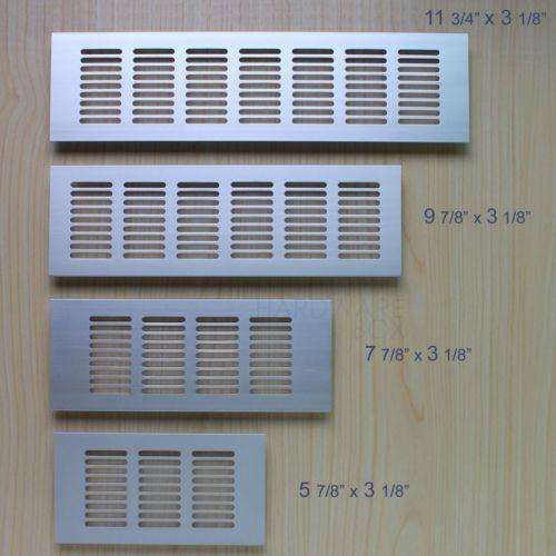 Aluminum Air Vent Cover Louver Air Ventilation Panel Shoes Cabinet Rectangle Air Ventilation Diy Supplies Shoe Cabinet
