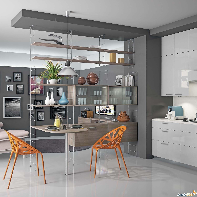 soffitto + sistema-componibile-economico-soggiorno-casa-bagel ... - Soggiorno Cucina Open Space Ikea 2