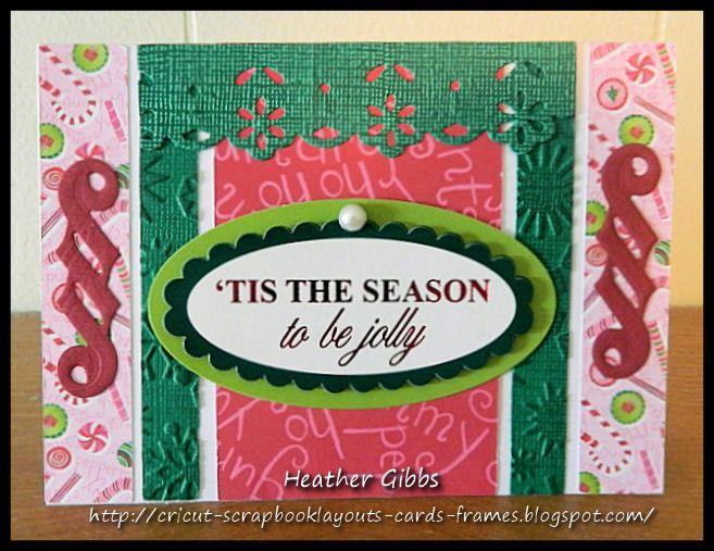 Cricut Inspired Handmade Cards: 4 Fun Christmas Cards, spellbinder, gift tag, embossing