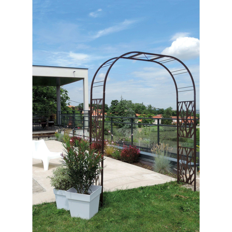 Arche Pour Fleurs Grimpantes Leroy Merlin treillis soudé, l.1.95 x h.19.72 cm louis moulin | arche
