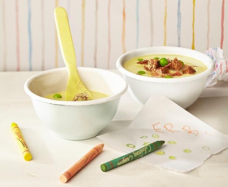 Erbsen cremesuppe kinder suchen gerne die erbsen in der suppe heraus aus kochen mit dem - Kochen fur kinder thermomix ...
