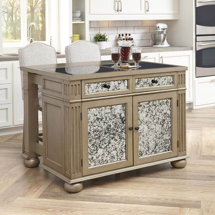 Home Styles Visions Kitchen Island Set with Granite Top | Wayfair
