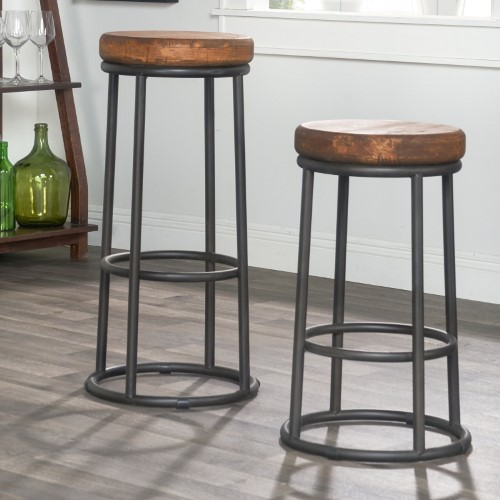 Kosas Home 30 In Kendall Backless Barstool With Images Counter Stools Backless Backless Bar Stools Round Bar Stools