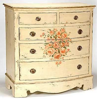 Jane Keltner White Rose Bow Front Chest · Second Hand StoresTraditional  DressersFunky FurniturePainted ...