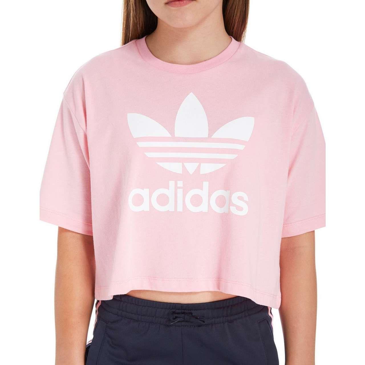 ab103c1ce adidas Originals Girl's Trefoil Crop T-Shirt Junior | Becca | Adidas ...