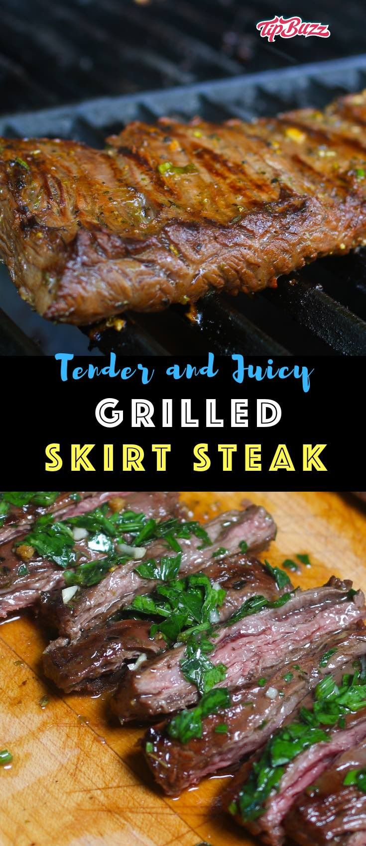 Skirt Steak is melt-in-your mouth delicious with a tender and juicy texture. A simple trick to get the best-tasting skirt steak recipe is marinating the meat prior to grilling or pan-searing. A quick garlic and lime marinade infuses plenty of flavor while tenderizing the steak for an amazing dinner! #marinadeforskirtsteak