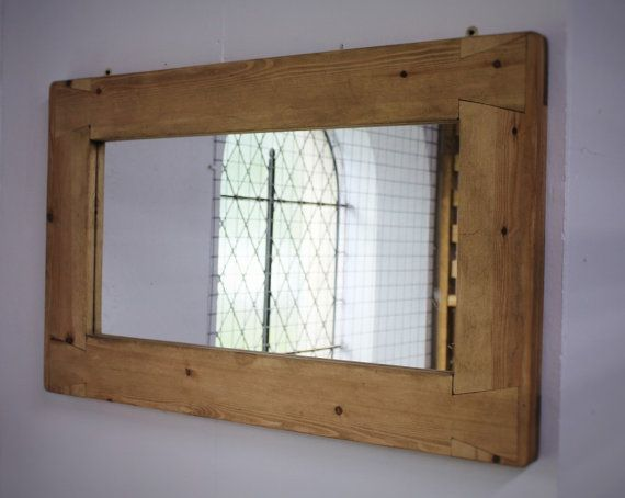 large mirror, wood natural & eco friendly, finished in pale Danish ...