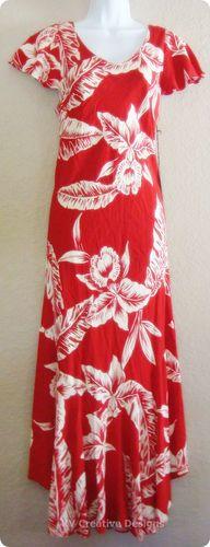 Tori Richard Hawaiian Palm Tree Frond Red Summer Dress Large L New | eBay