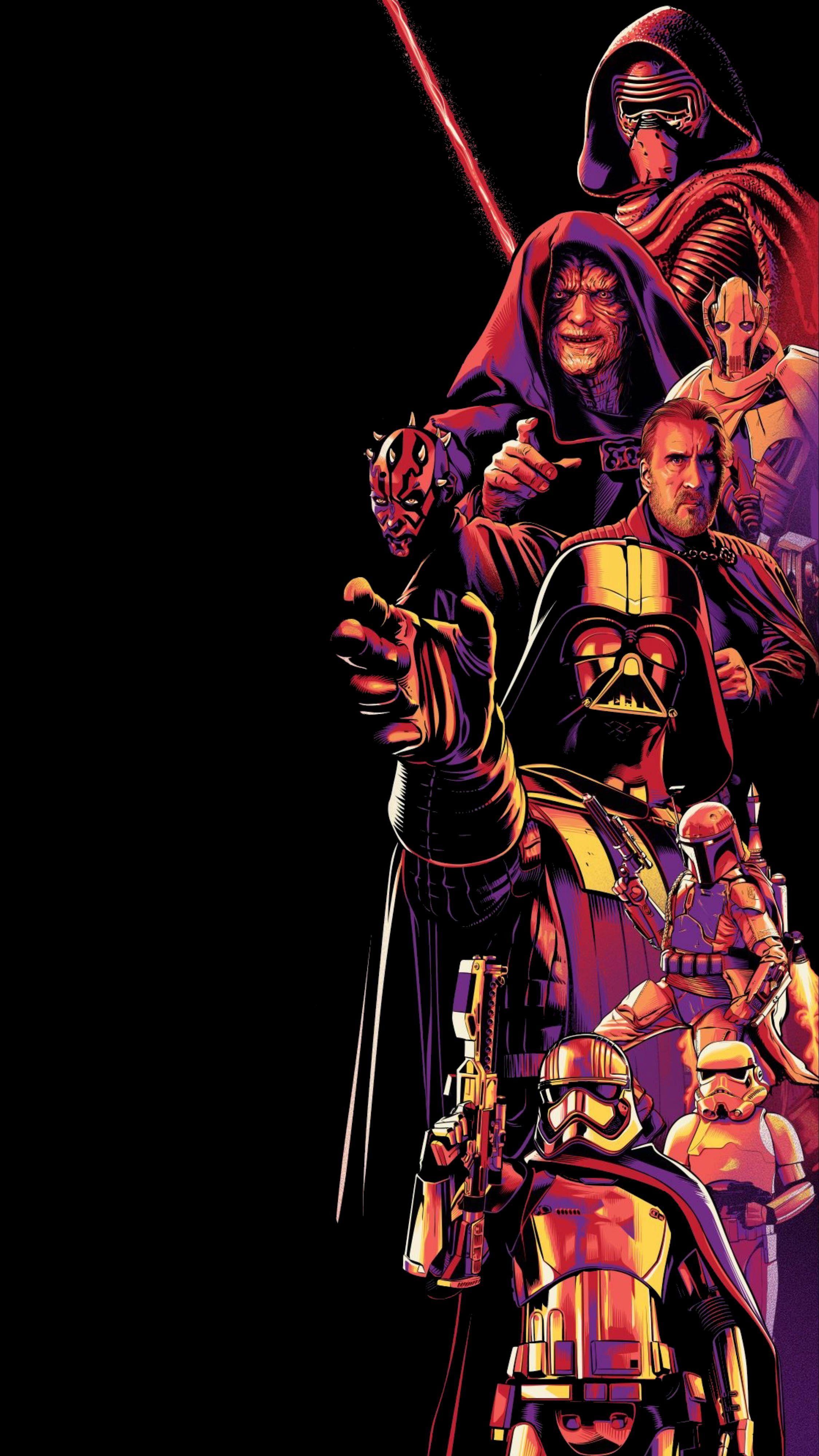 Amoled Dark Wallpaper Star Wars Vertical Star Wars Background Star Wars Wallpaper Star Wars Villains