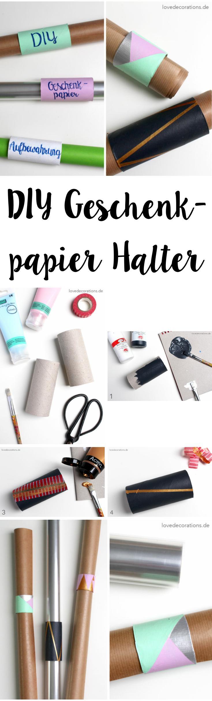 DIY Geschenkpapier Halter und meine Lieblingsfarbe(n   Upcycling ...