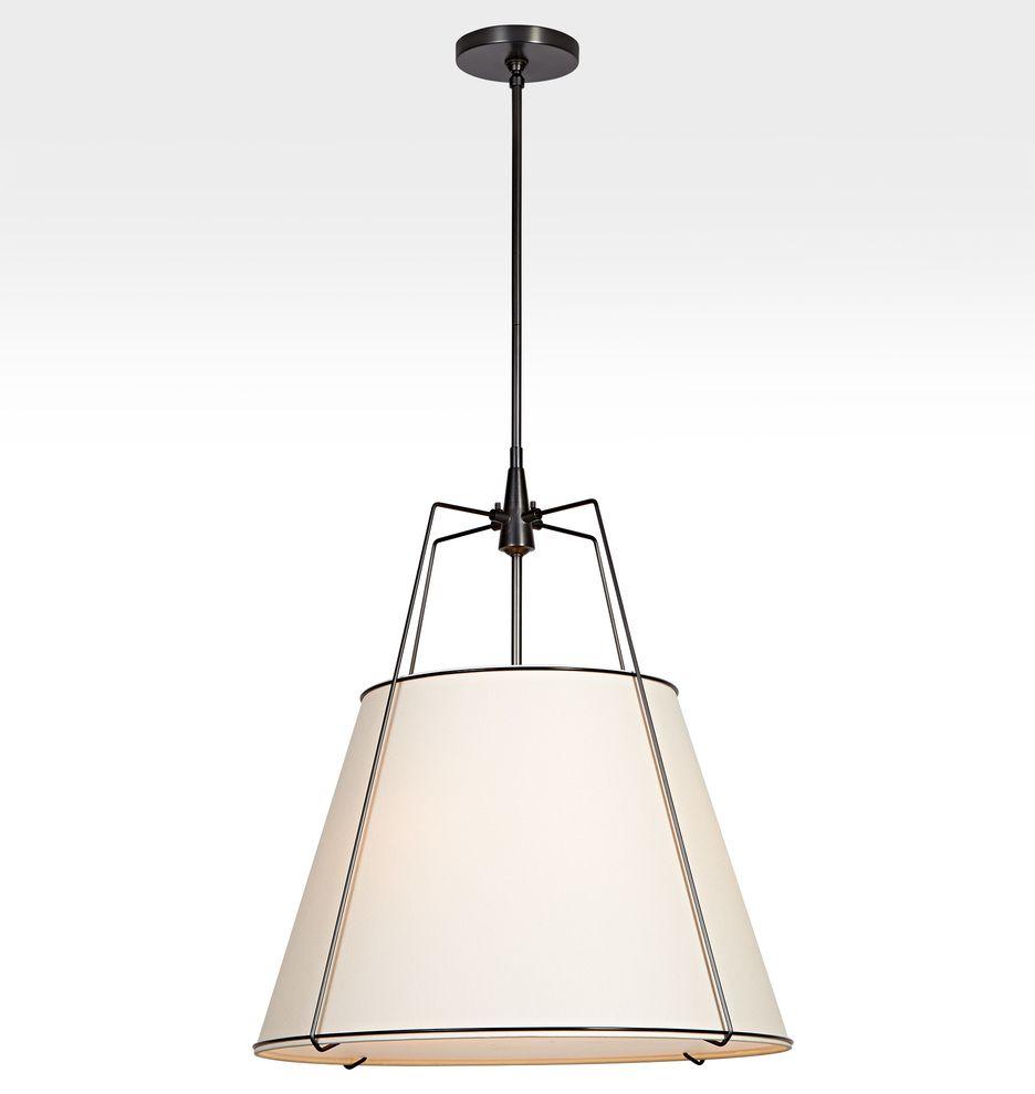 Conical 24in Drum Pendant Rejuvenation Drum Pendant Farmhouse Lighting Kitchen Table Lighting
