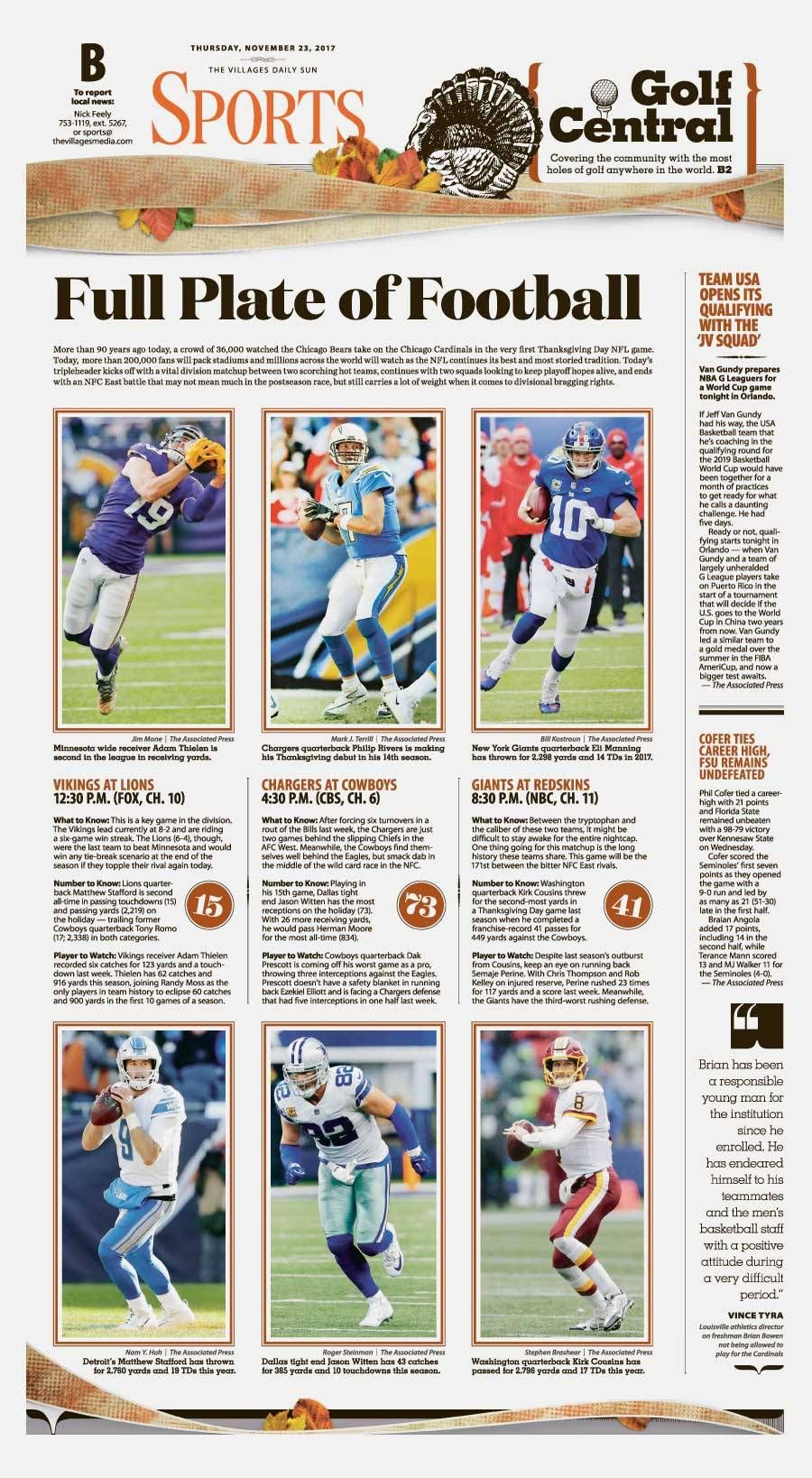 Daily Sun Visuals Newspaper Design Sports Design Page Design
