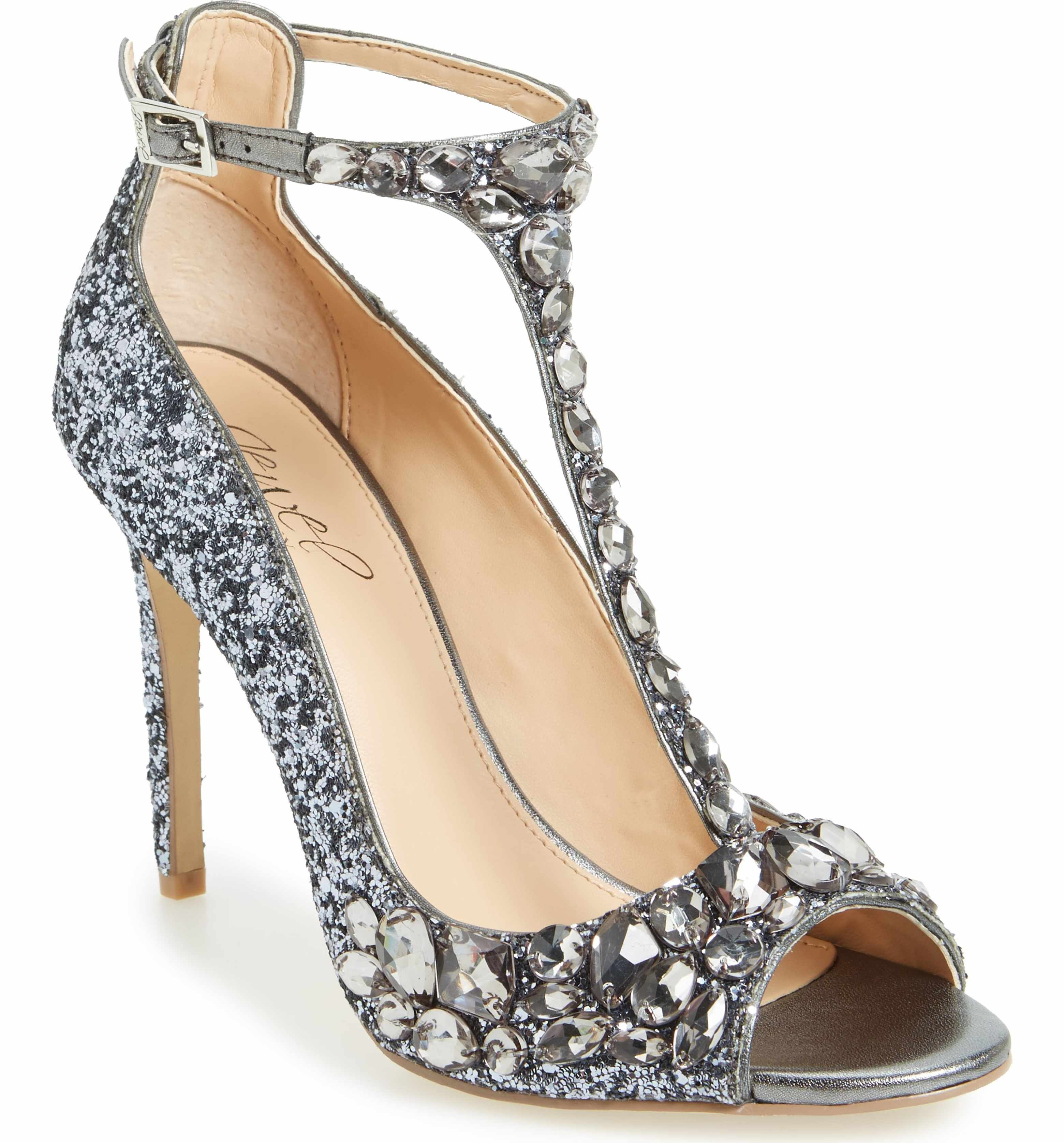 Main Image - Jewel Badgley Mischka Conroy Embellished T-Strap Pump (Women) ac2853daf055