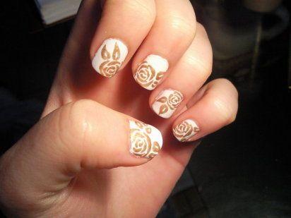 Rosas doradas