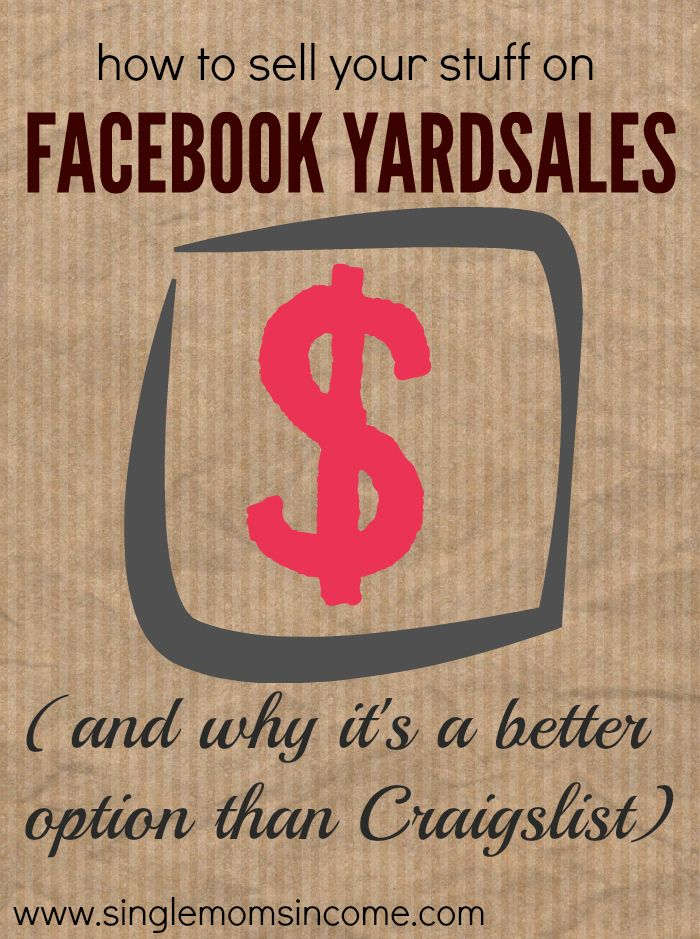 Facebook Yard Sales A Better Alternative To Craigslist With