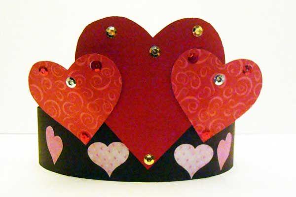 Preschool Crafts For Kids*: Valentine's Day Heart Crown