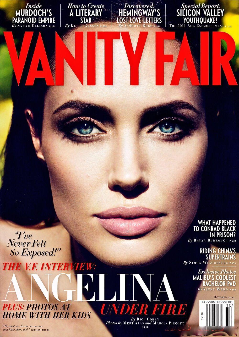 Jolie angelina covers octobers vanity fair