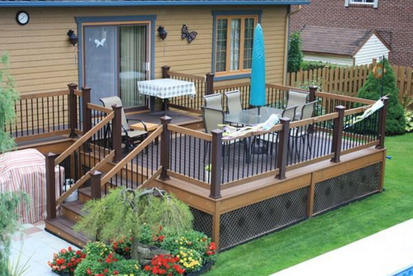 two toned deck staining | found on patiodesigndepot.com | deck ... - Backyard Patio Deck Ideas