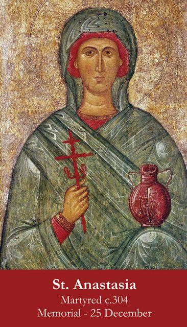 St  Anastasia Prayer Card | Female Saint Holy Cards | St anastasia