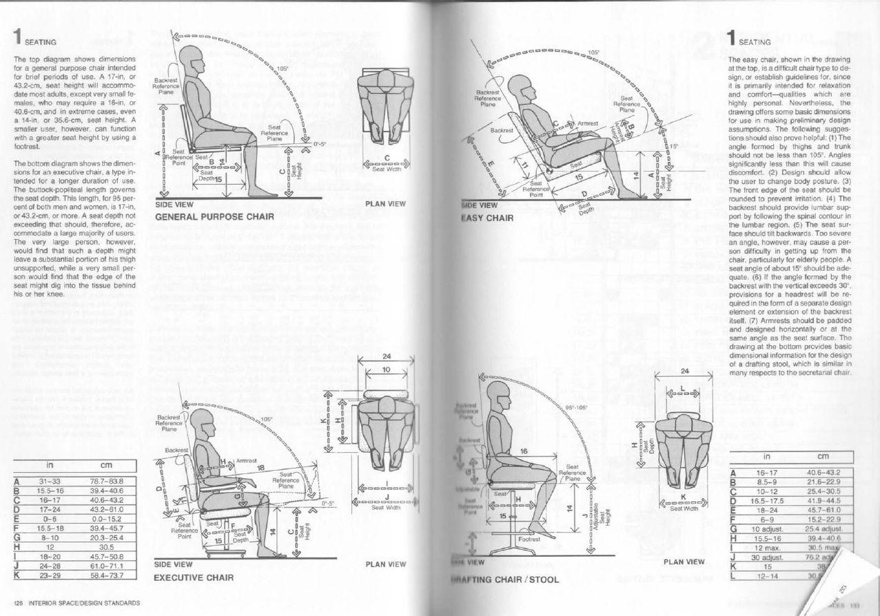 Seating Human Dimension Interior Space Julius Panero Martin