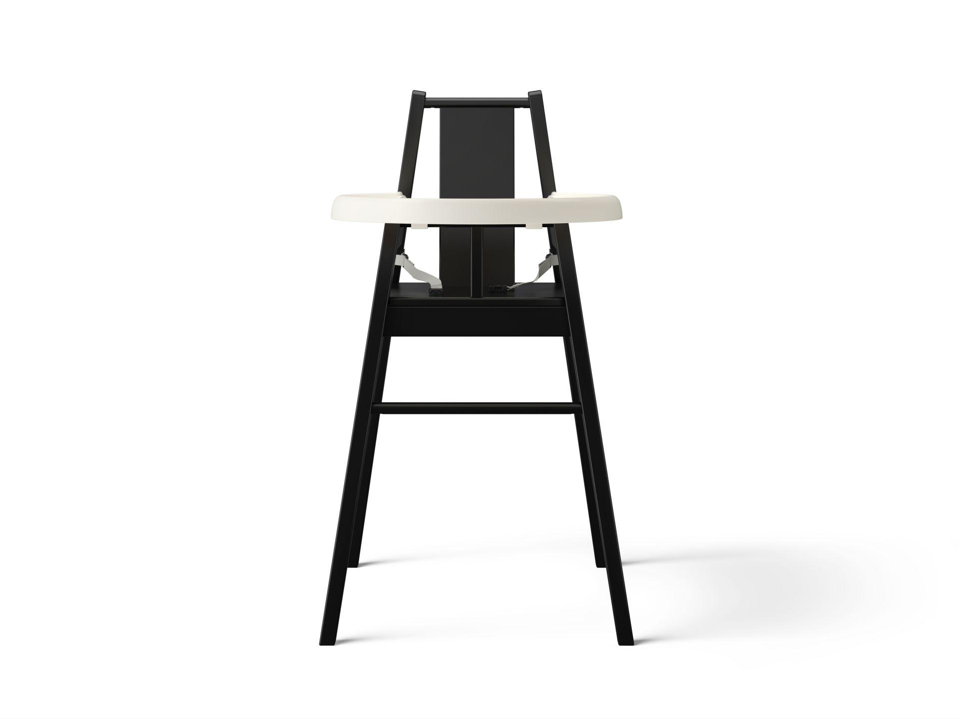 Hoge Stoel Voor Kind.Blames Hoge Kinderstoel Met Blad Zwart Ikea Catalogus 2017 Ikea
