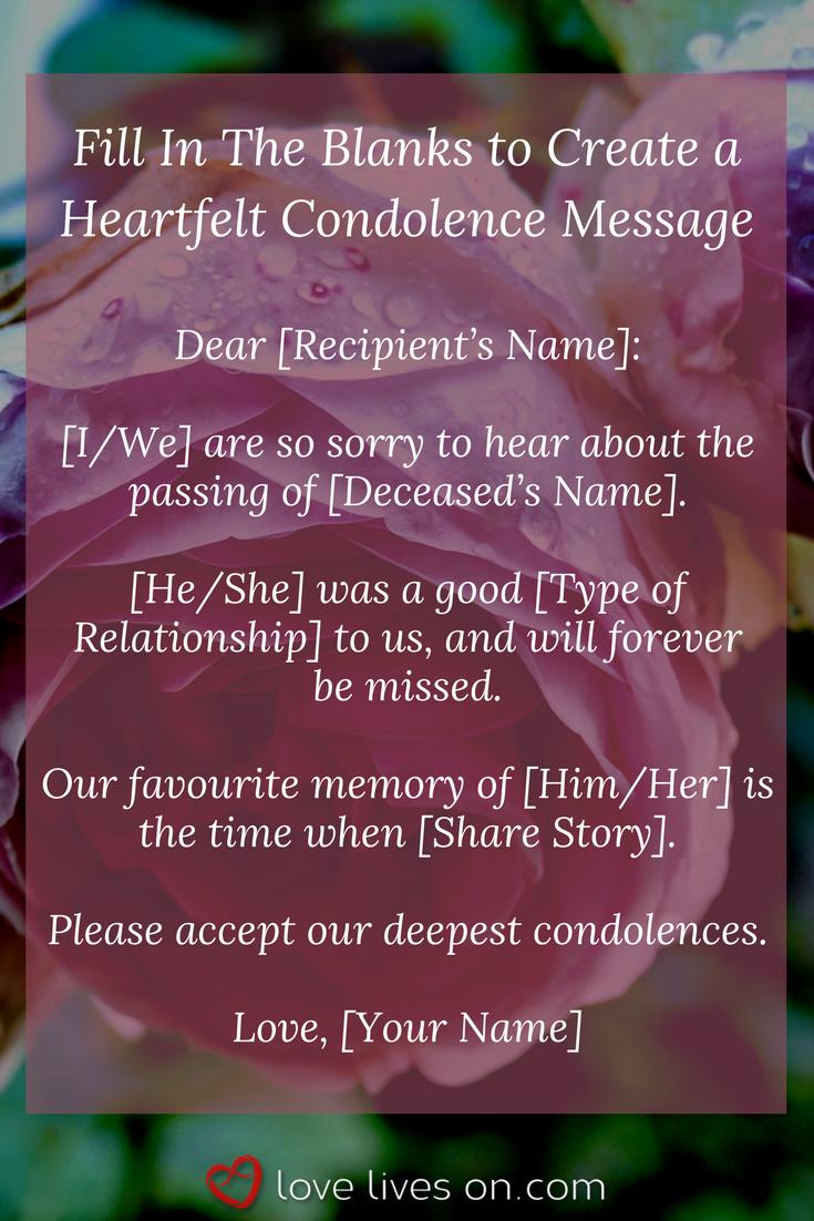 Condolences Condolences Sample Condolence Message And Heartfelt
