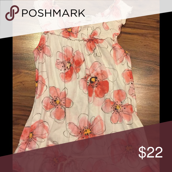 Anthropologie Pink Floral Top Cute sleeveless pink floral top from Anthropologie in great condition! Great for summer! Anthropologie Tops