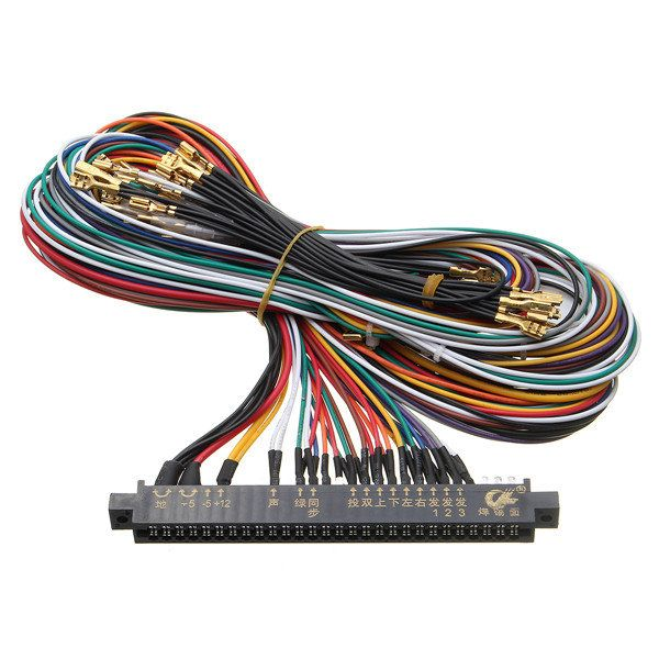 wiring harness multicade arcade video game pcb cable for jamma rh pinterest co uk Circuit Breaker Basic Electrical Wiring Diagrams