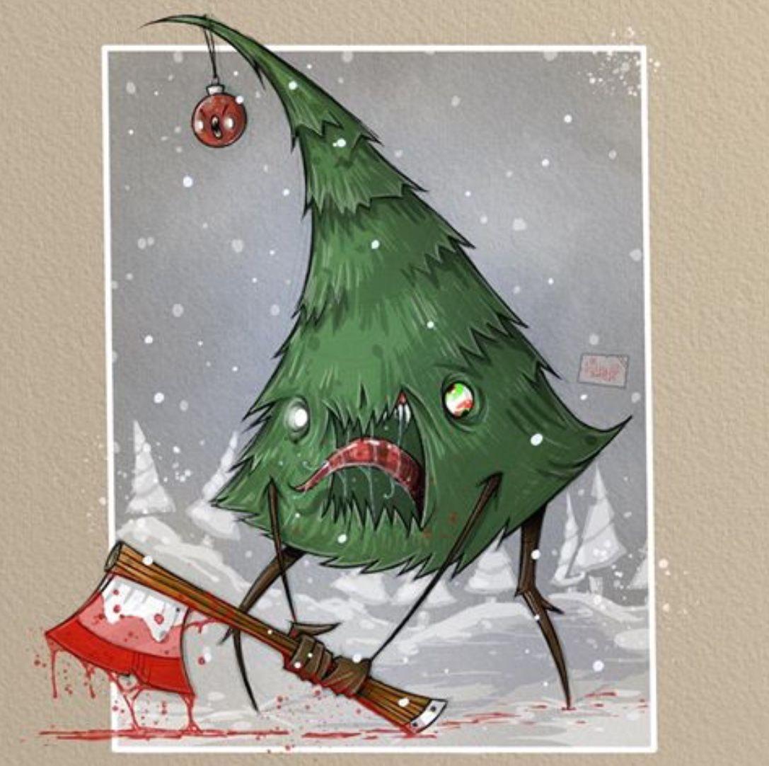 Evil Christmas Tree By Mr Revenger Christmas Comics Christmas Christmas Tree