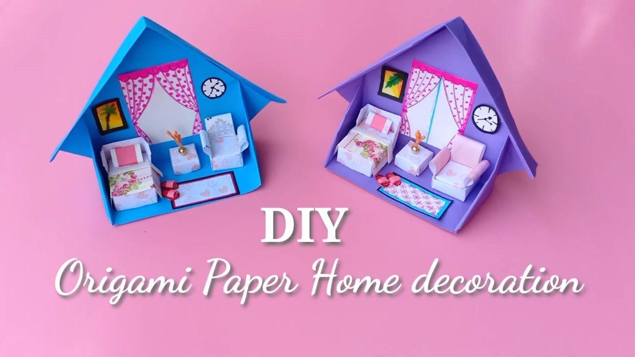 Origami Easy Handmade Paper Doll House Cute Paper Doll House For Kids Paper Doll House Paper House Diy Mini Doll House