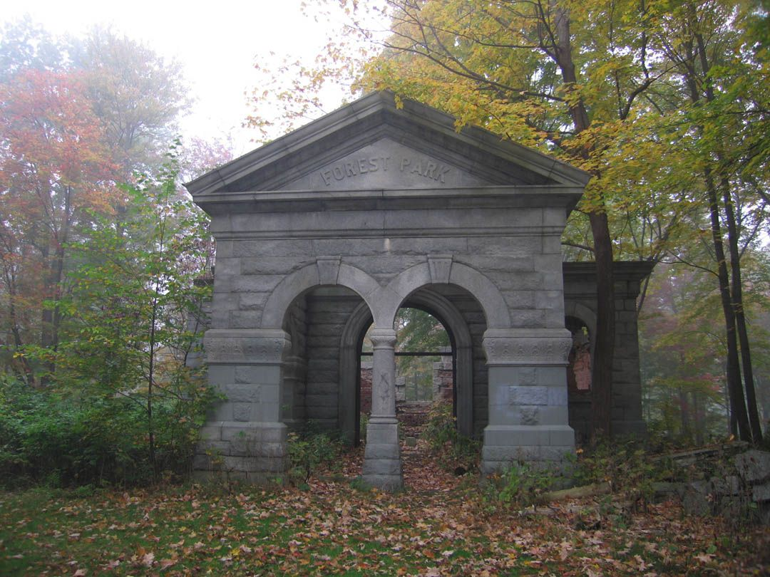 Down The Road From Jim Sister House In Troy Lies Forest Park Cemetery One Of Most Haunted Cemeteries U With It Being October And All