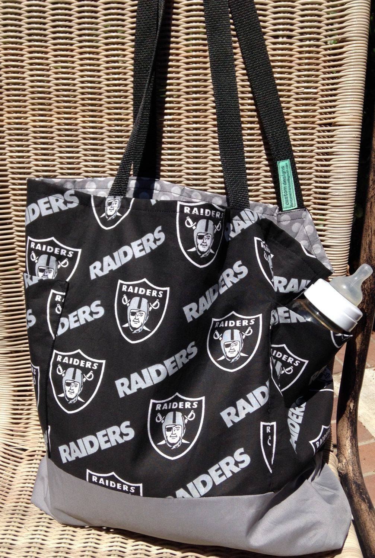 Oakland Raiders Diaper Bag Tote Purse Football Shopping Custom Made