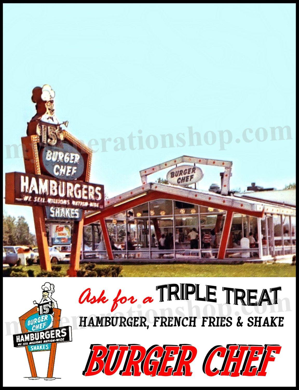 Hamburger Restaurant Tribute Poster - Triple Treat Neon Sign ...
