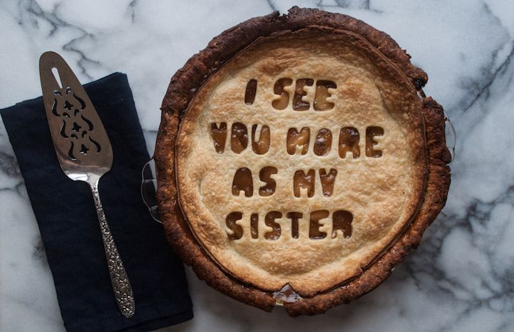 Isabella Giancarlo uses quotes—from actual breakups—and bakes the lines into delicious pies and cakes.