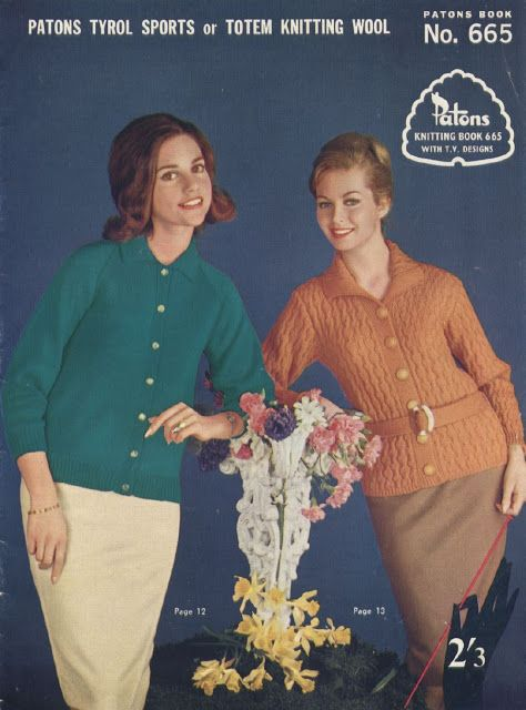 The Vintage Pattern Files Free 1960s Knitting Patterns Patons