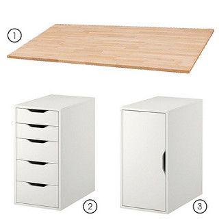 Ikea desk deco planche bureau id e d co bureau et bureau ikea - Ikea planche bureau ...