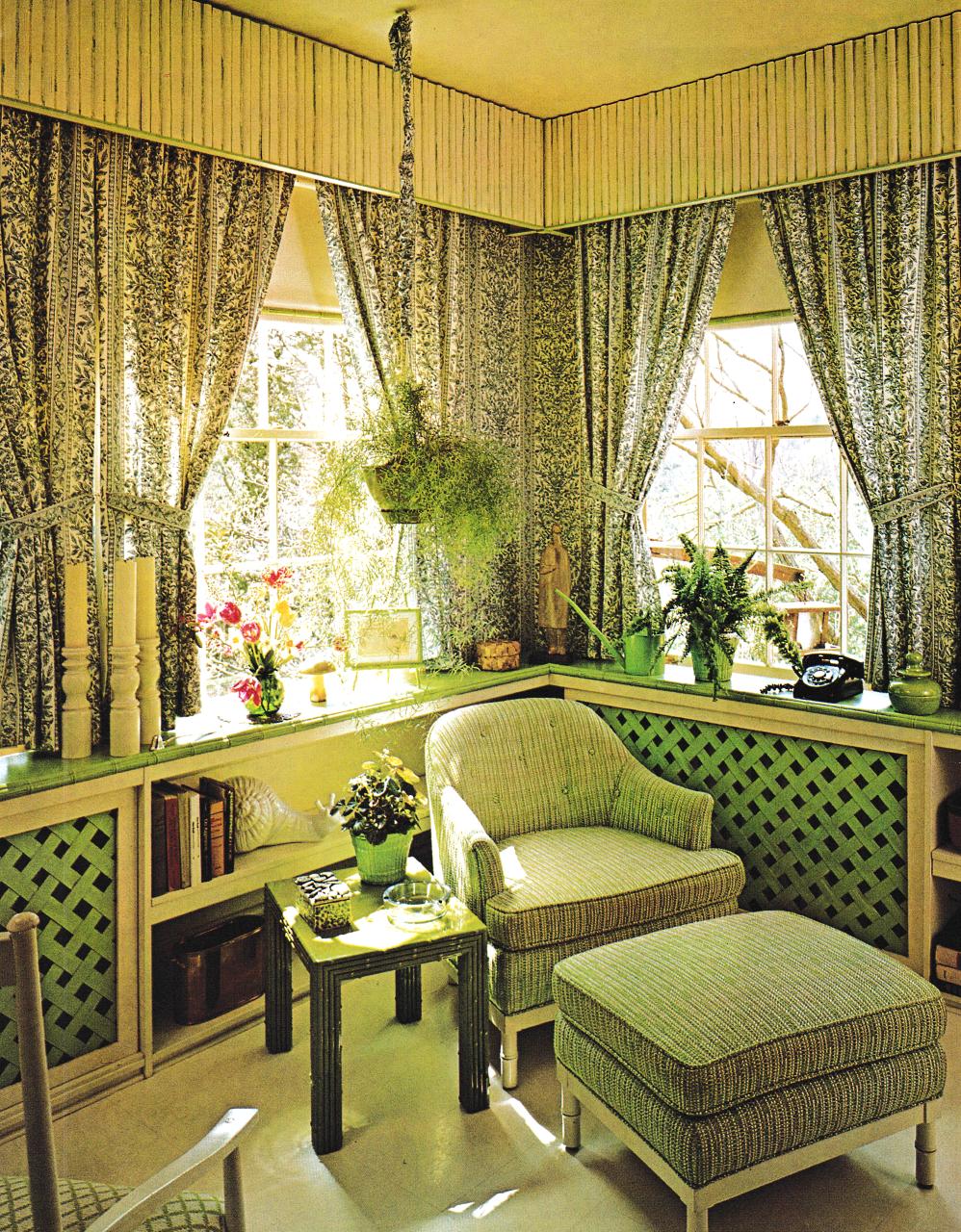 1974 Garden Theme Living Room Home Decor Vintage Home Decor 1970 S Home Decor