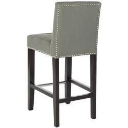 $215  Safavieh Noho Grey Linen Nailhead Trim 25.8-inch Counter Stool - Overstock Shopping - Great Deals on Safavieh Bar Stools