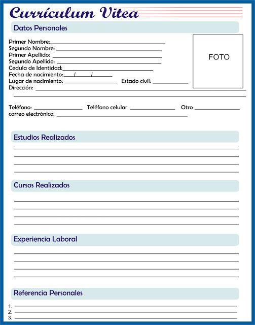 Curriculum Vitae Simples Pronto Para Imprimir Avare Guia