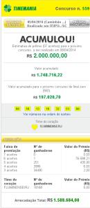 Timemania 559 130x300 Timemania 559: resultado do sorteio de hoje, 05/04